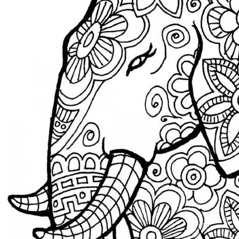 elephant mandala coloring pages collection | free coloring