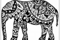 Elephant Mandala Coloring Pages - Elephant Mandala Coloring Pages Easy New Adult Coloring Pages Free Printable