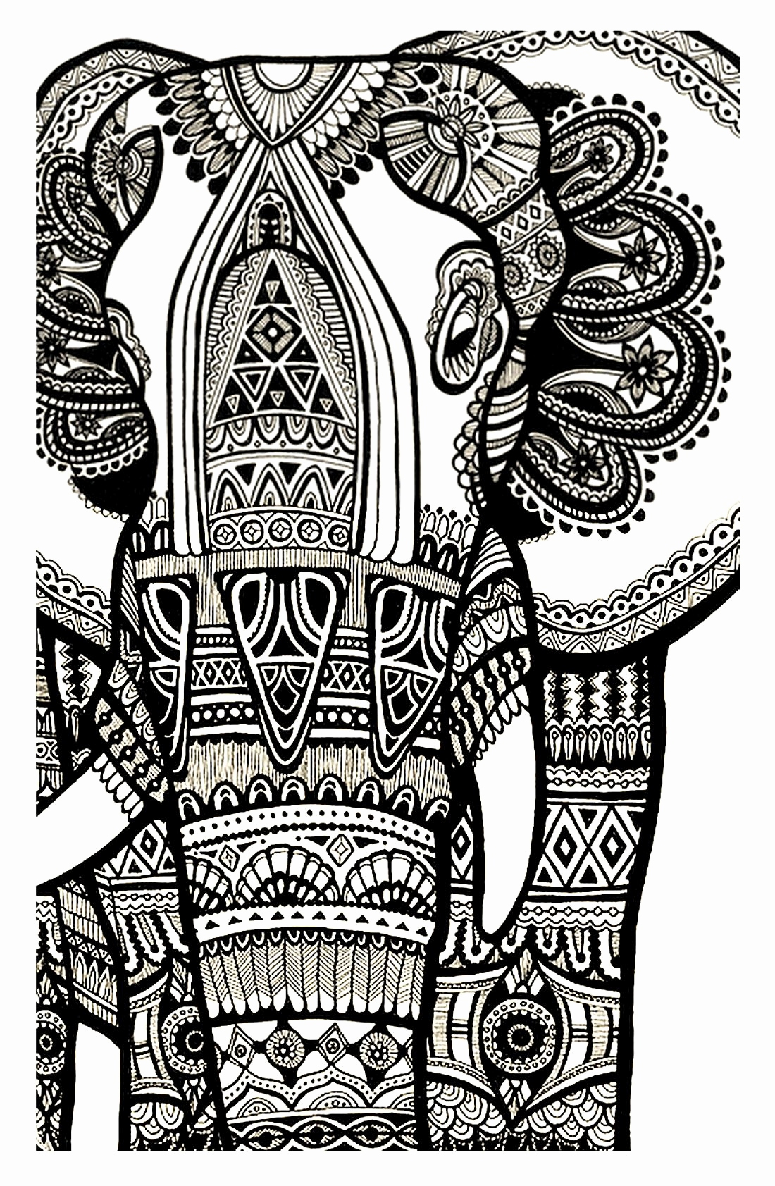 Elephant Mandala Coloring Pages Free Coloring Page Gallery – Free ...