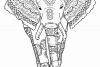 Elephant Mandala Coloring Pages - Elephant Mandala Coloring Pages Free for Adults Elephant Printable Gallery