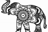 Elephant Mandala Coloring Pages - Elephant Mandala Coloring Pages Free Printable Mandala Beautiful to Print