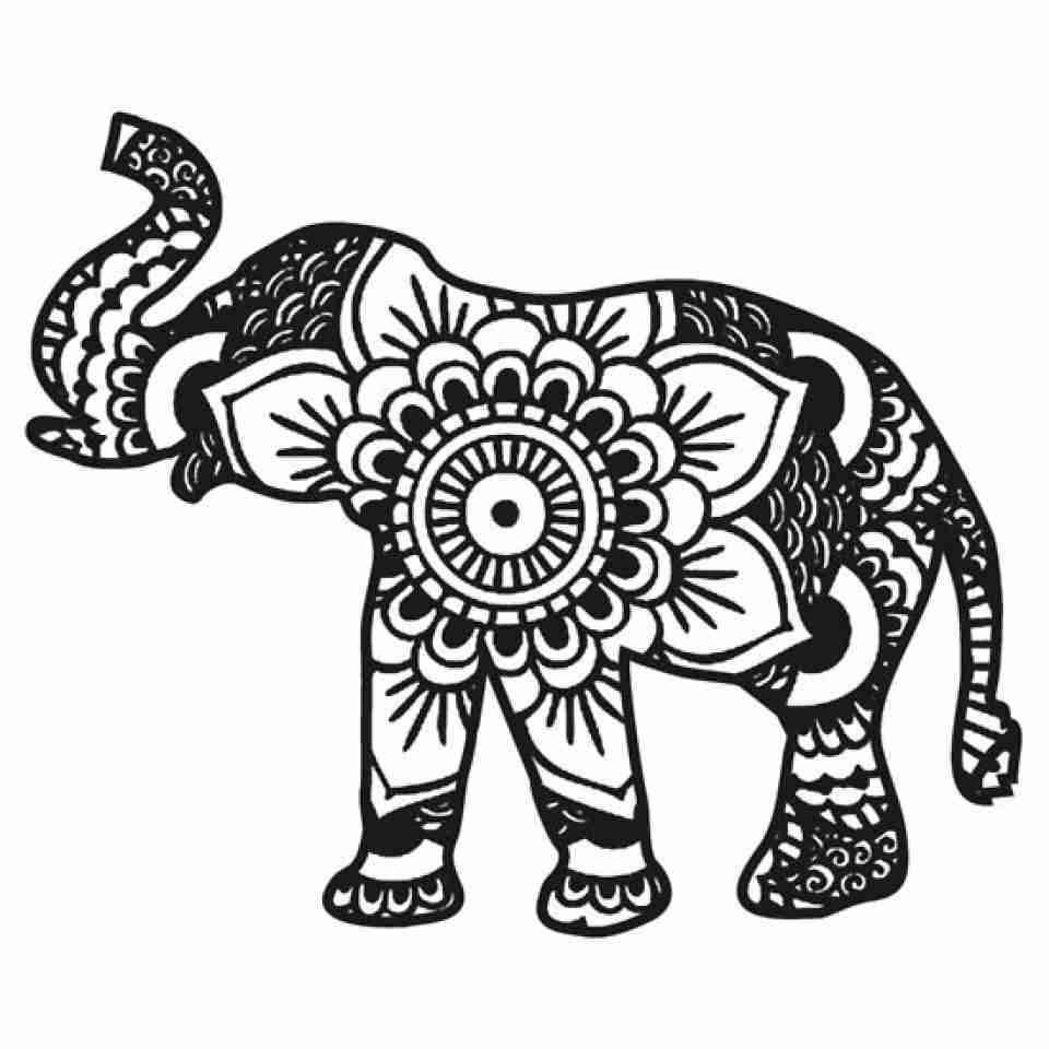 Printable Brilliant Ideas Printable Elephant Mandala Coloring Pages ...