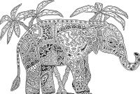 Elephant Mandala Coloring Pages - Elephant Mandala Coloring Pages Printable Printable