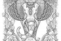 Elephant Mandala Coloring Pages - Elephant with Patterns Download Free Coloring Books to Print