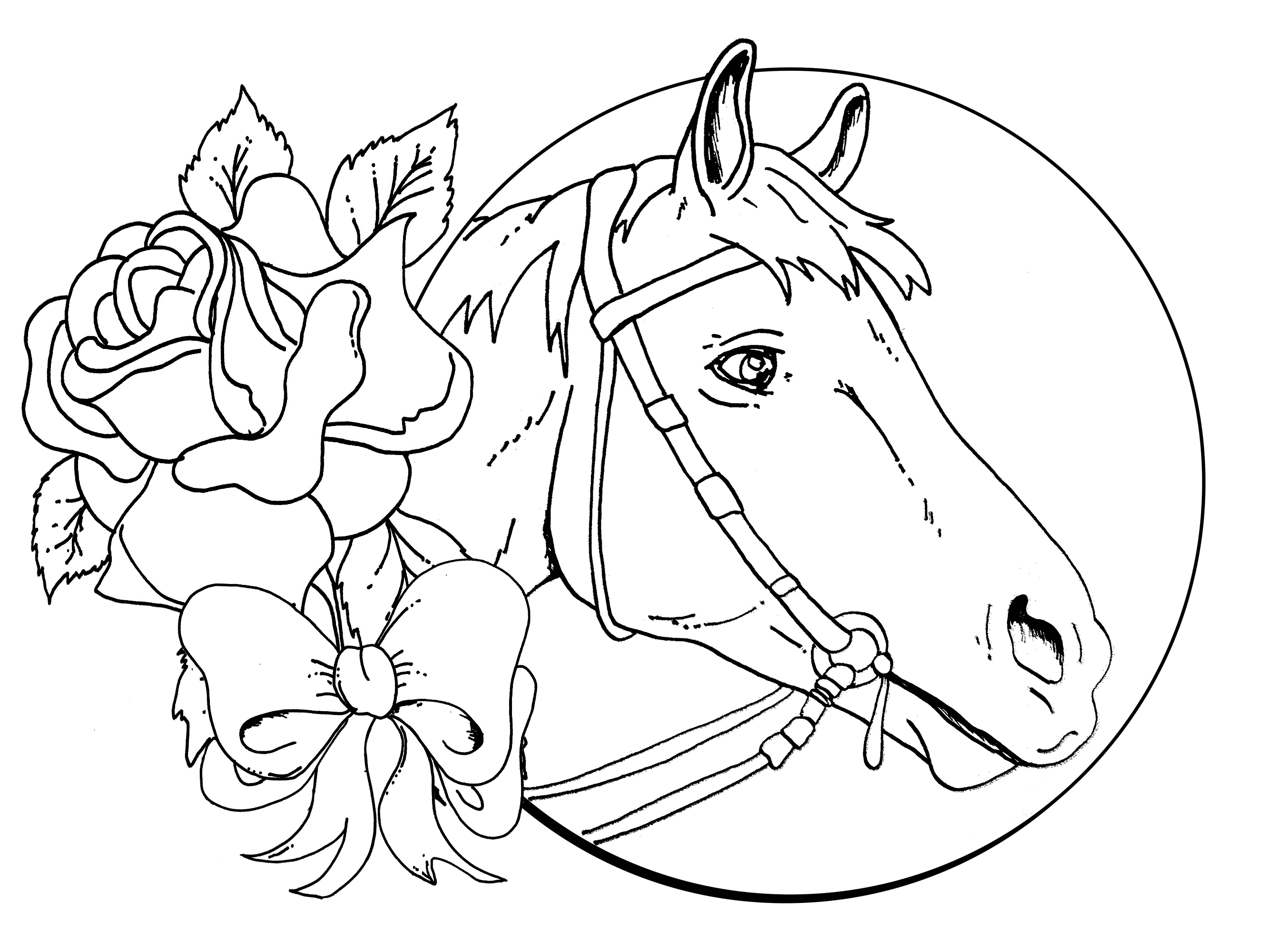 Endorsed Coloring Sheets Horses Detailed Christmas Pages Download Gallery Of Sturdy Coloring Page A Horse Pages Horses R 3353 Unknown Download