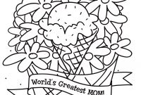 Mothers Day Coloring Pages Kids - Engaging Mothers Day Coloring Printable to Pretty Free Printable Download