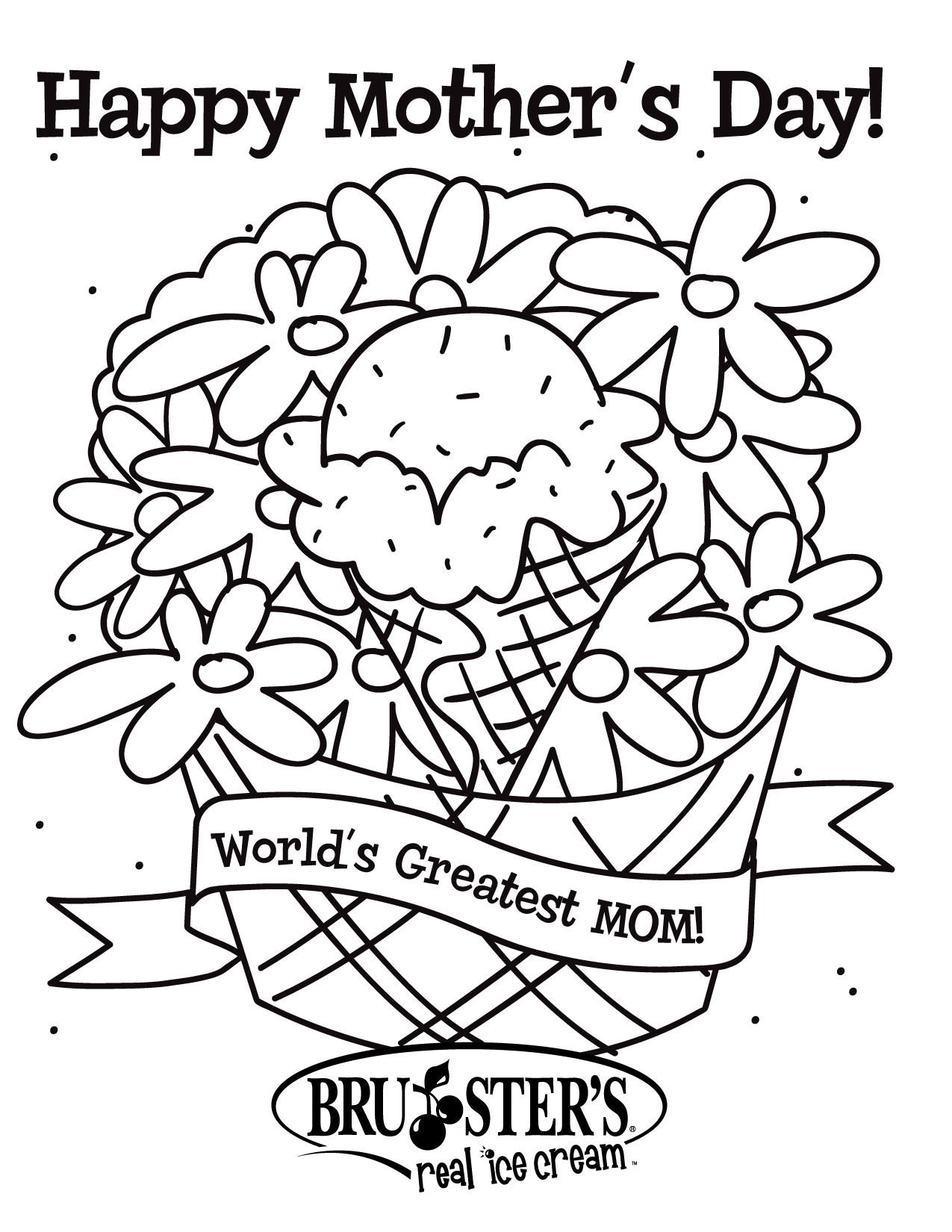 Engaging Mothers Day Coloring Printable To Pretty Free Download Of Innovative Happy