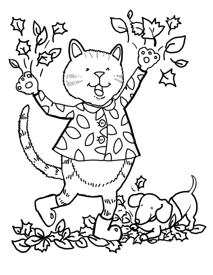 Autumn Coloring Pages Printable to Print | Free Coloring Sheets