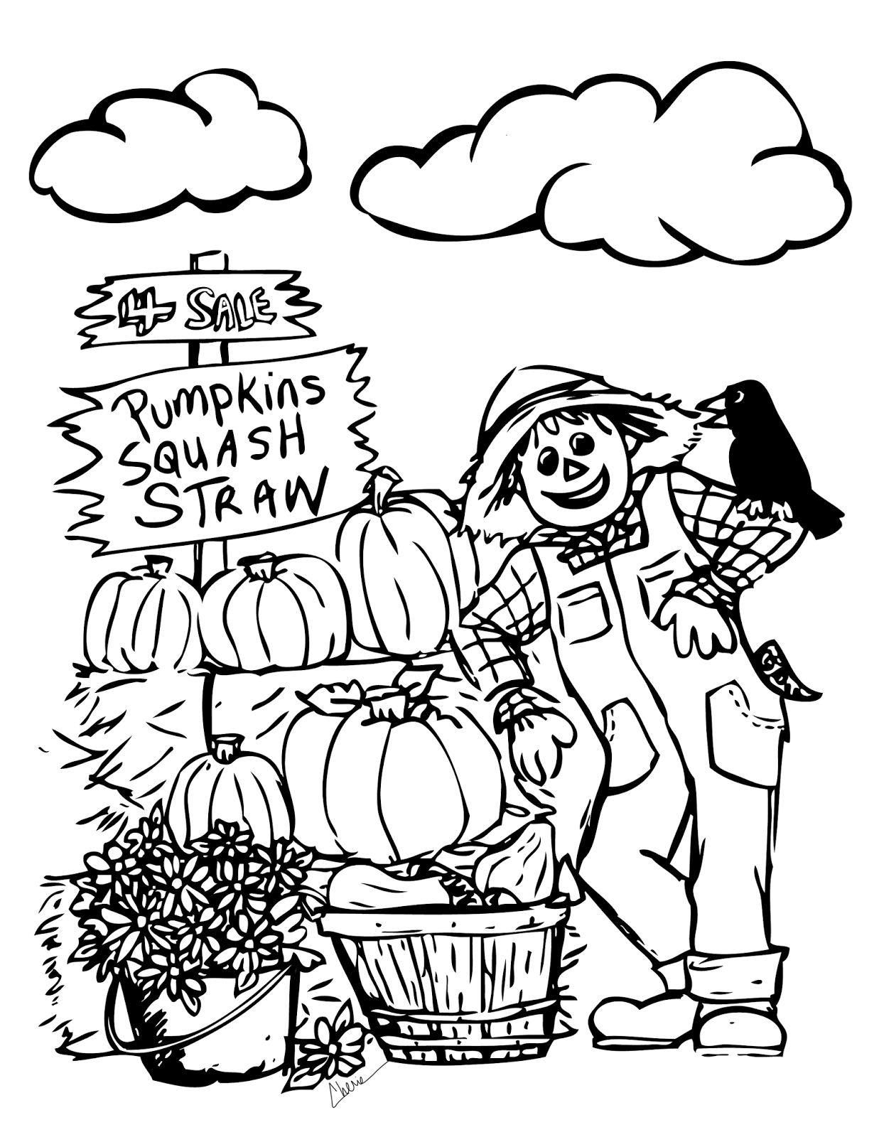 Fall Coloring Pages Free Printable Idealstalist Download Of Autumn To Print