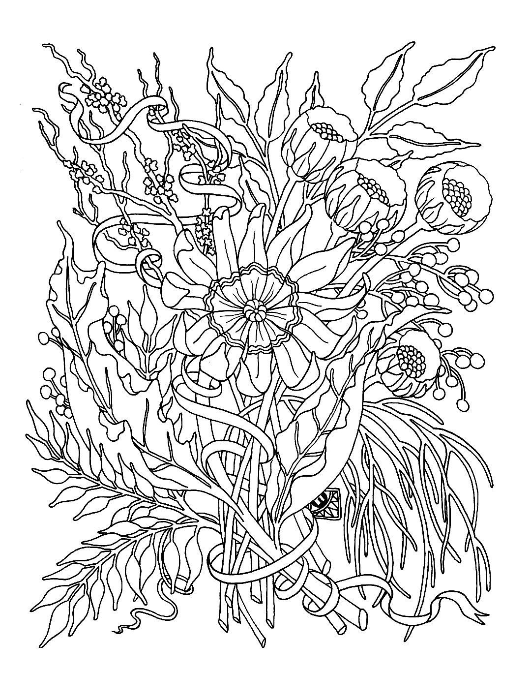 Fall Flowers Coloring Pages Printable 5j - Free For Children