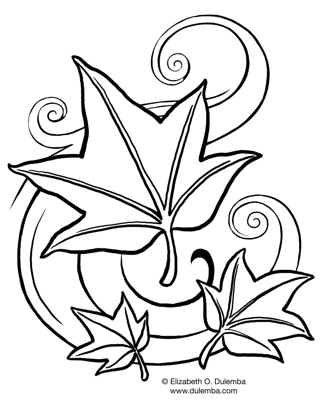 Fall Flowers Coloring Pages Printable 16g - Save it to your computer