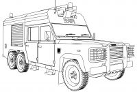 Land Rover Coloring Pages - Firetruck 77 Transportation – Printable Coloring Pages to Print