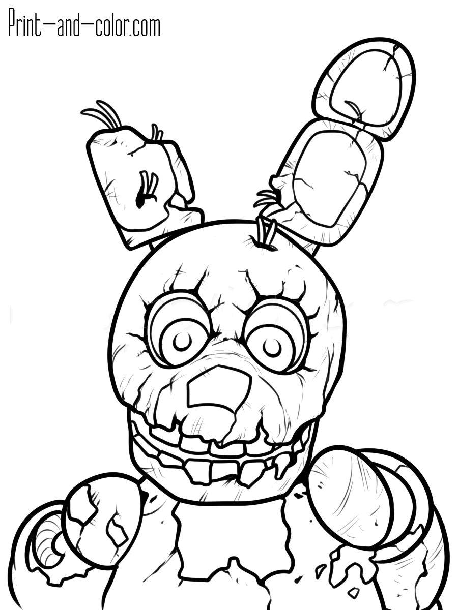 Fnaf Printable Coloring Pages to Print 6l - Free For kids