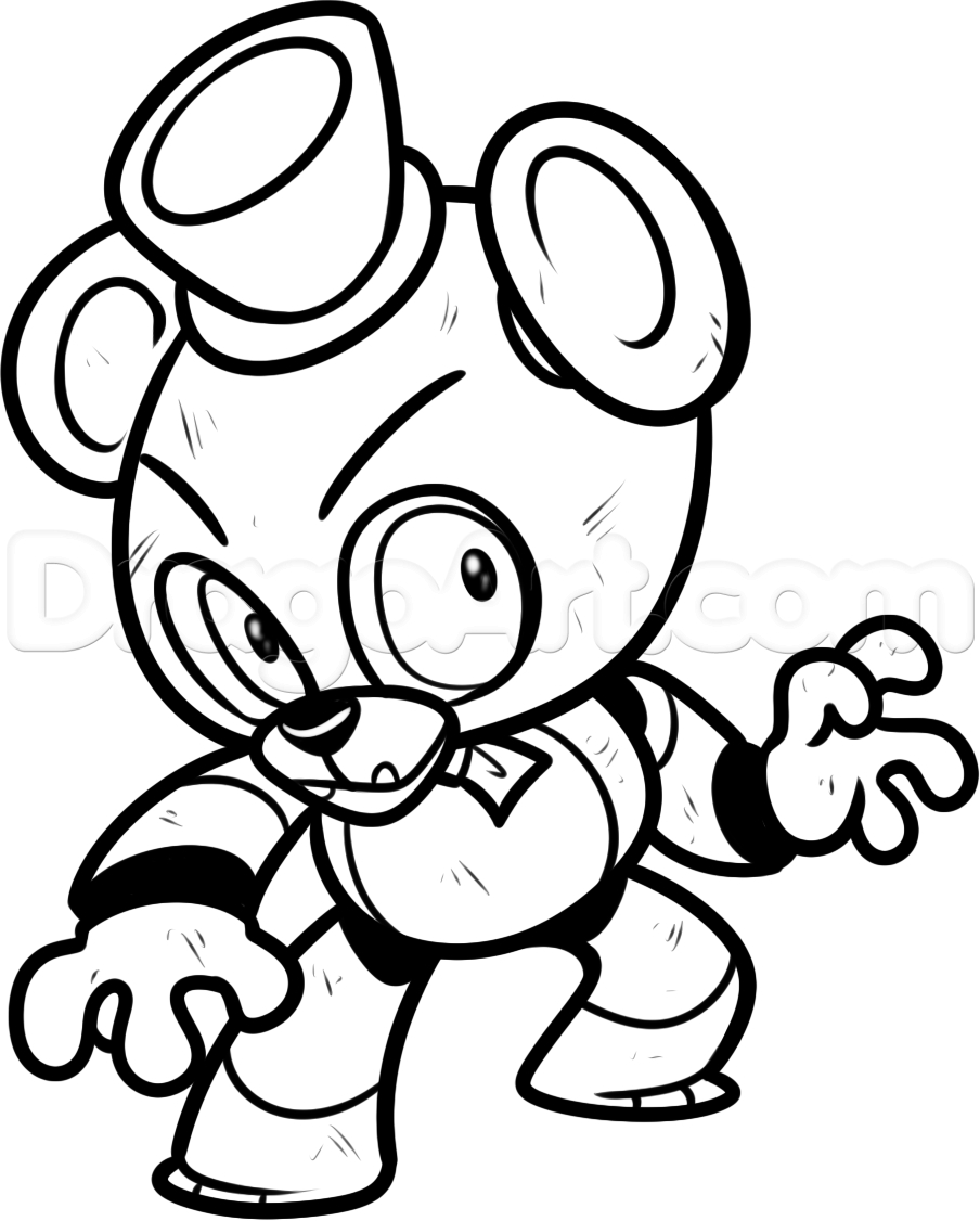 Fnaf Printable Coloring Pages to