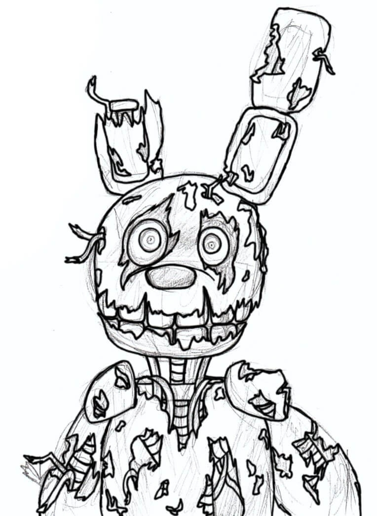 It is a picture of Exceptional Fnaf Printable Coloring Pages
