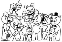 Fnaf Printable Coloring Pages - Fnaf Cartoon Bonnie Coloring Pages Printable Gallery