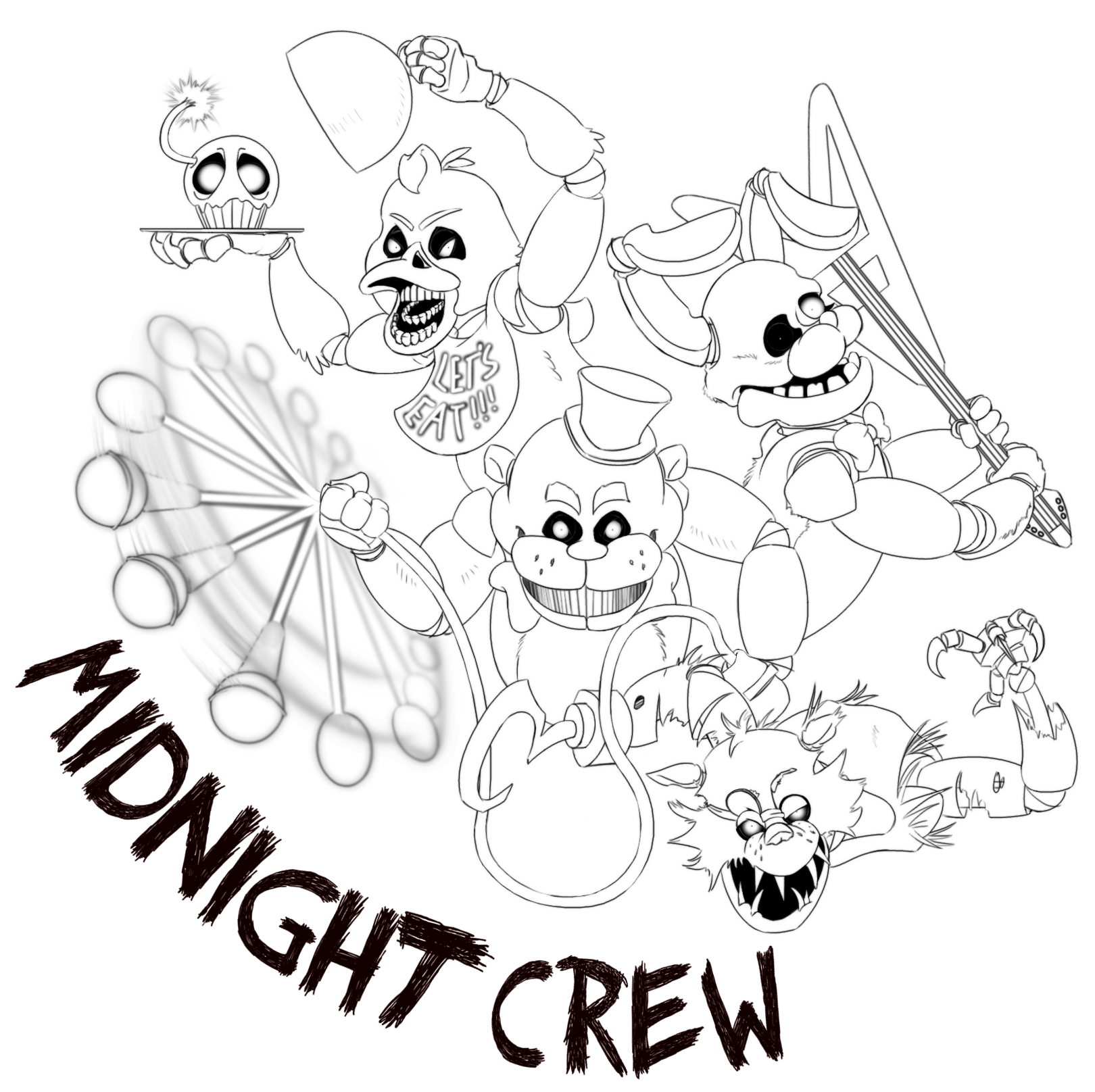 Fnaf Printable Coloring Pages to Print Free Coloring Sheets