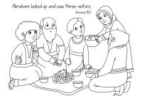 Free Bible Coloring Pages Kids - Free Bible Coloring Page Abraham and Sara A New Home Download