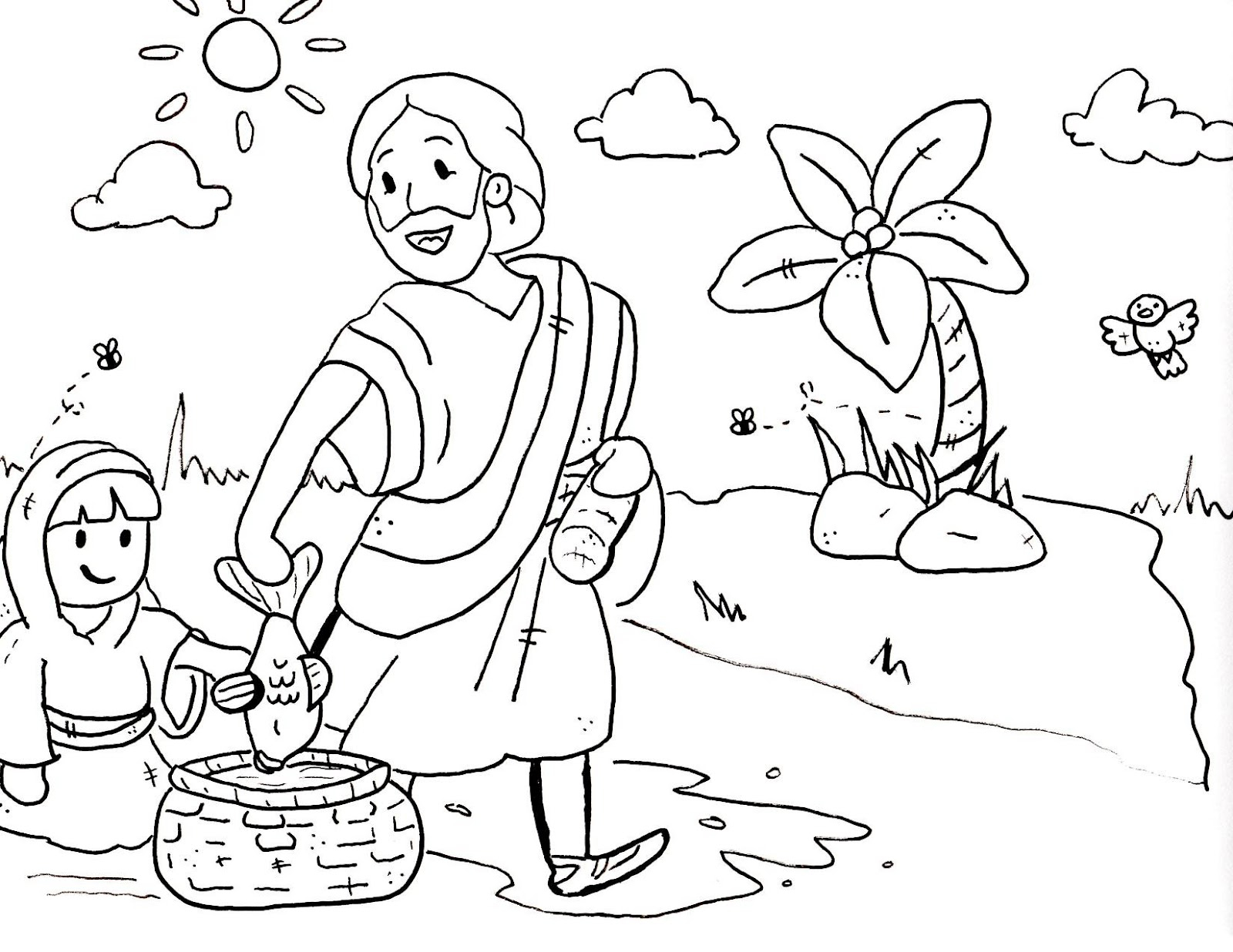 Free Bible Coloring Pages for Sunday School Kids with New Printable ...
