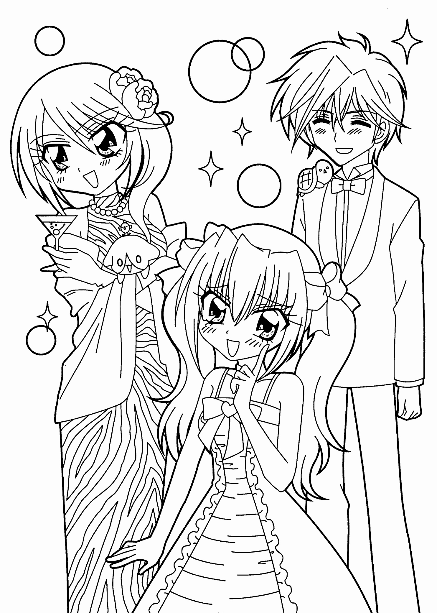 Printable Anime Coloring Pages - Free Coloring Pages Printable New Kilari and Seiji Anime Coloring Printable