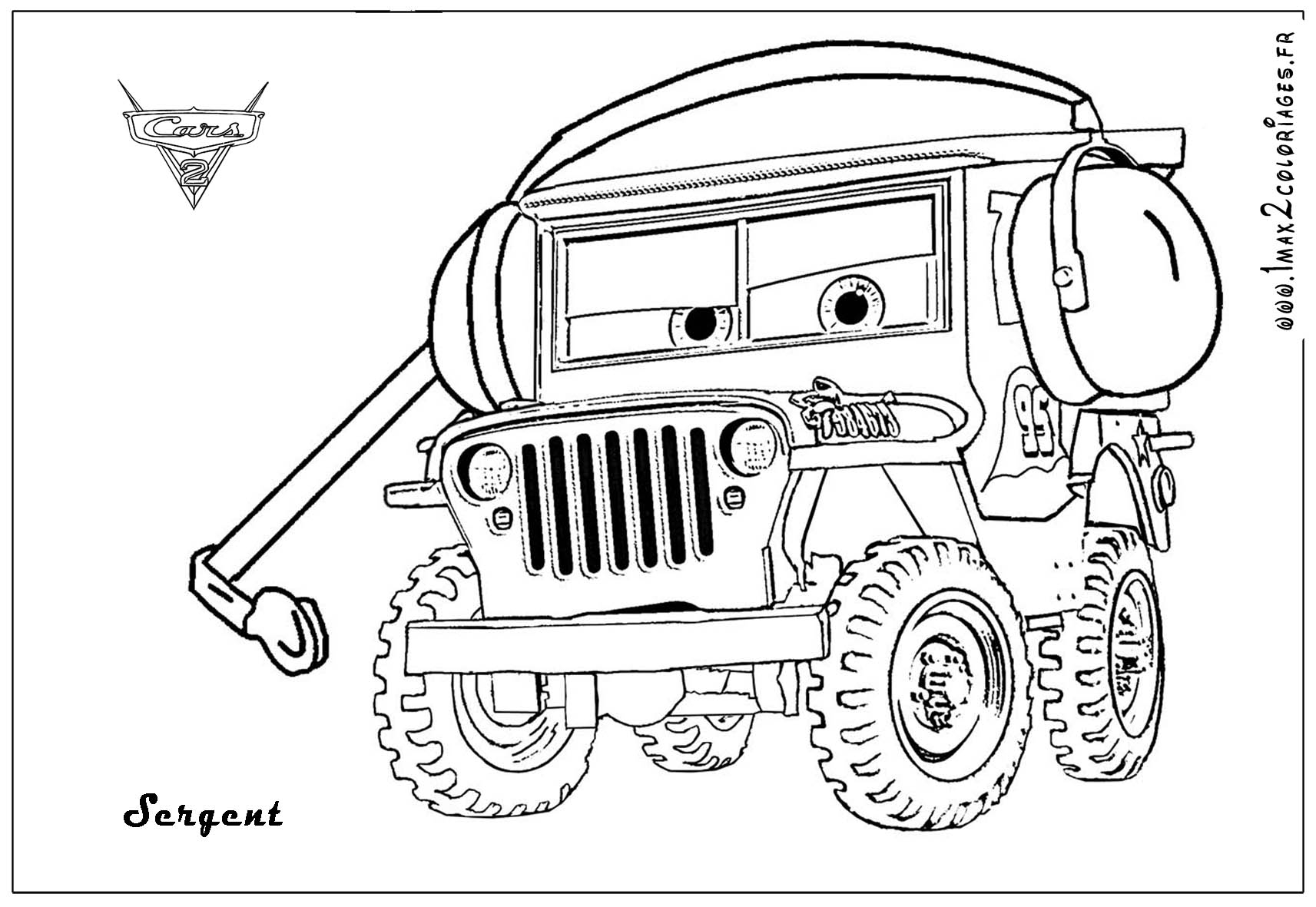 Cars the Movie Coloring Pages to Print | Free Coloring Sheets