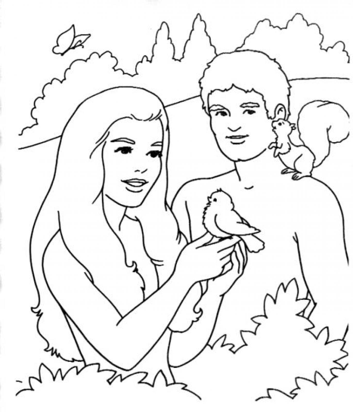 Free Printable Adam and Eve Coloring Pages for Kids Best Coloring Gallery Of And Eve Coloring Pages Coloring Pages Download