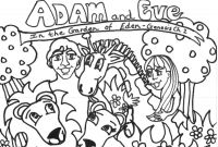 Adam and Eve Coloring Pages - Free Printable Adam and Eve Coloring Pages for Kids Best with Download