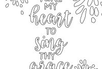 Free Scripture Coloring Pages - Free Printable Adult Coloring Pages Hymns & Scripture Our Printable