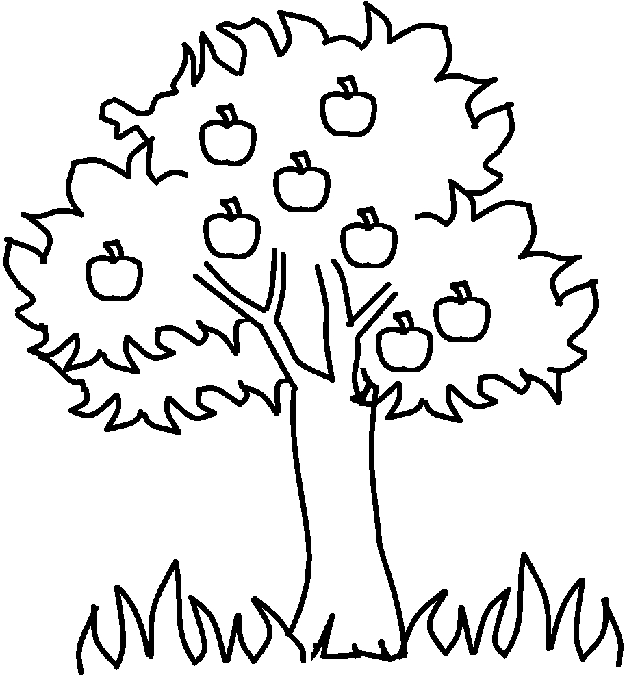 Tree Coloring Pages Collection 8f - Free Download