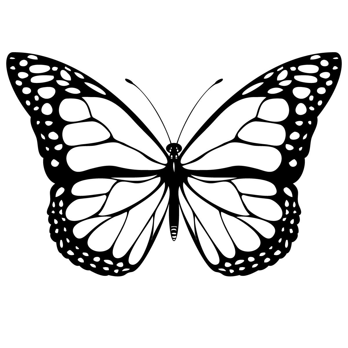 Monarch butterfly Coloring Pages to Print 3r - Free For kids
