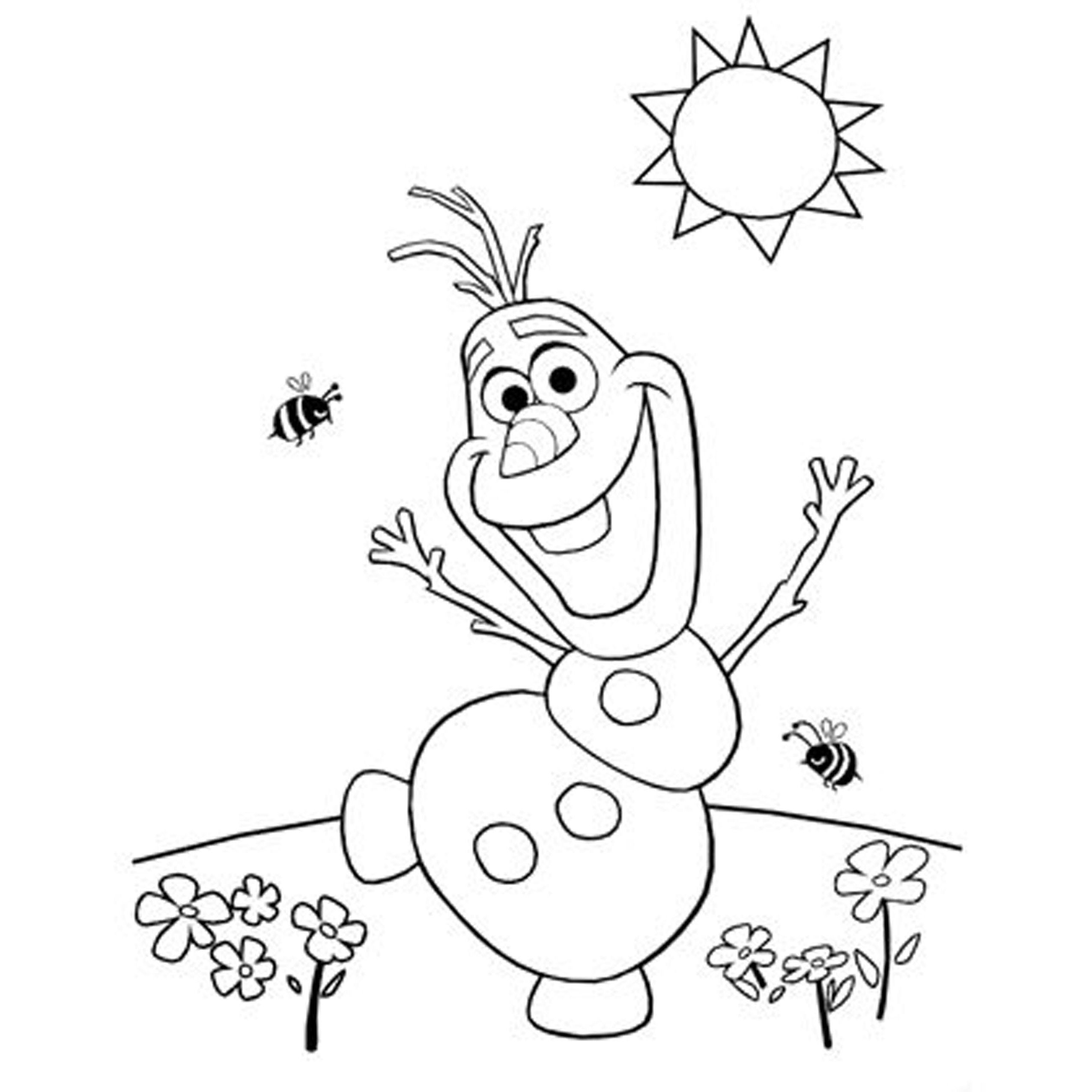 Coloring Pages Frozen Disney Olaf Gallery – Free Coloring Sheets
