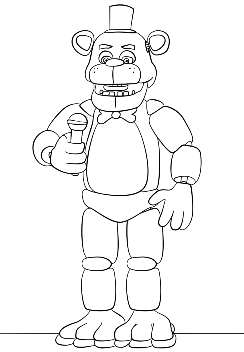 It's just an image of Mesmerizing Five Nights at Freddy's Coloring Pages Printable