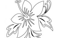 Coloring Pages Hawaiian Flowers - Free Printable Flower Coloring Pages for Kids Download