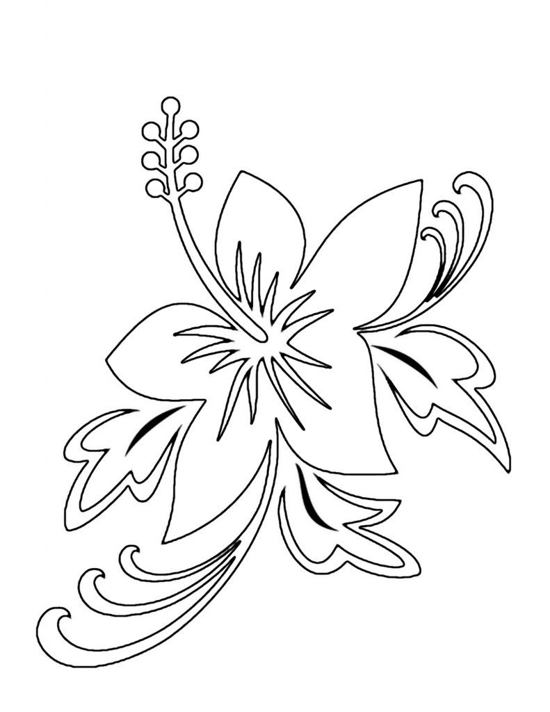 Free Printable Flower Coloring Pages For Kids Download