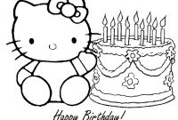 Hello Kitty Free Printable Coloring Pages - Free Printable Happy Birthday Coloring Pages for Kids Printable