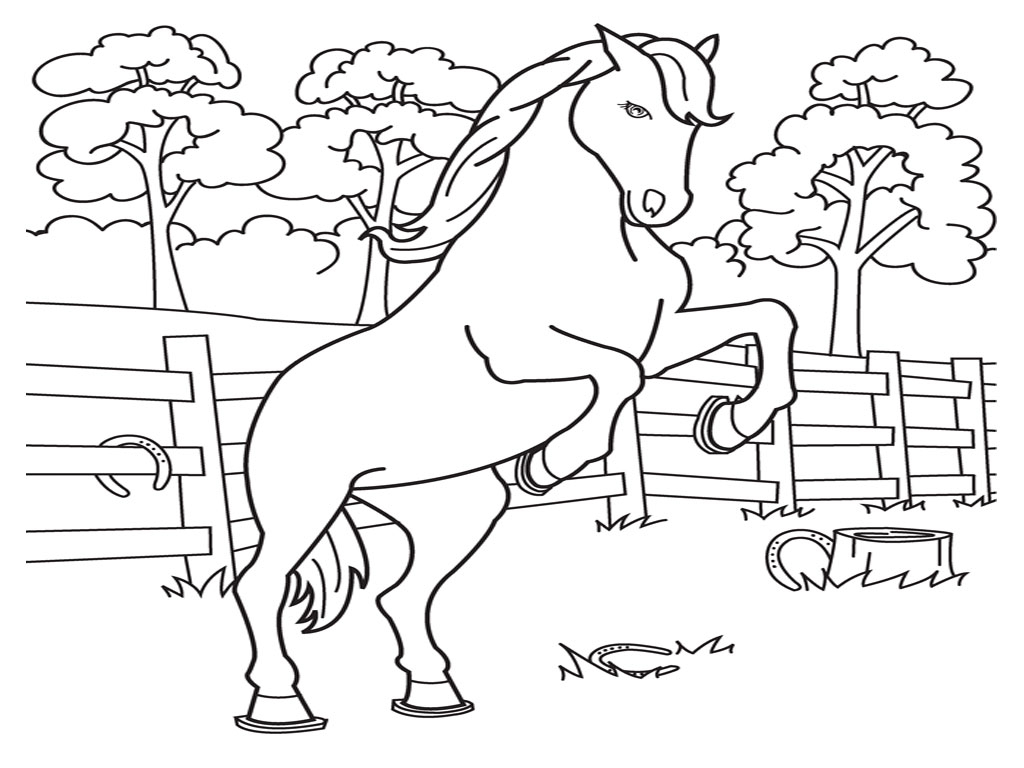 Free Printable Horse Coloring Pages for Kids Printable Of Horse Detailed Coloring Pages Gallery
