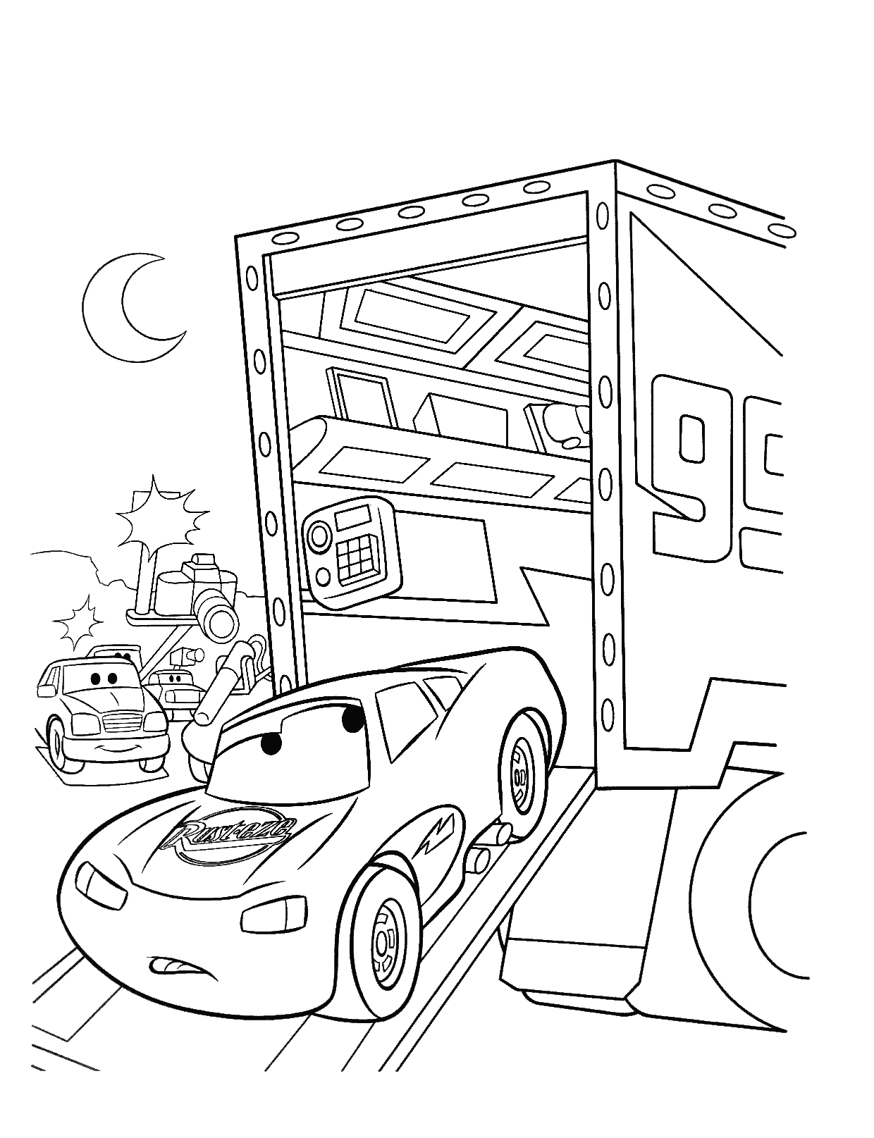 Free Printable Lightning Mcqueen Coloring Pages for Kids Best Free Download Of Car Coloring Pages Disney Cars the Movie to Print Grig3 Download