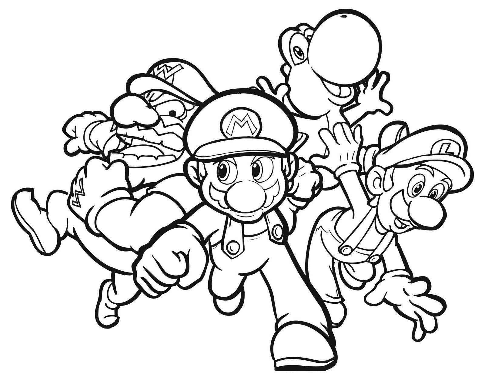 Mario Coloring Pages Download 8i - Save it to your computer
