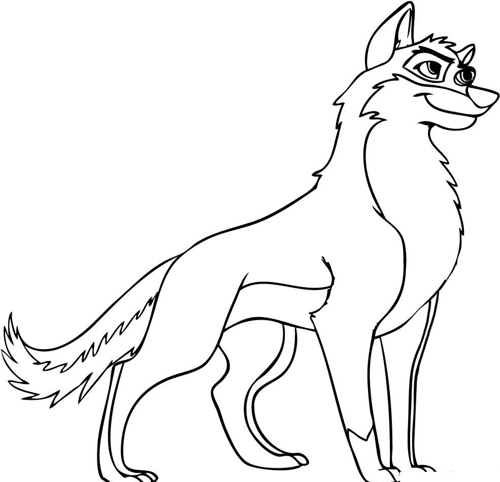 Wolf Coloring Pages Printable Printable 5e - To print for your project