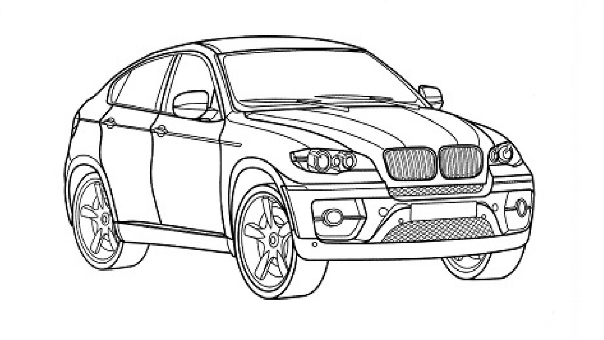 bmw car coloring pages gallery