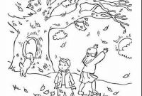 Autumn Coloring Pages Printable - Fresh Incredible Fall Landscape Coloring Page with Fall Coloring Printable