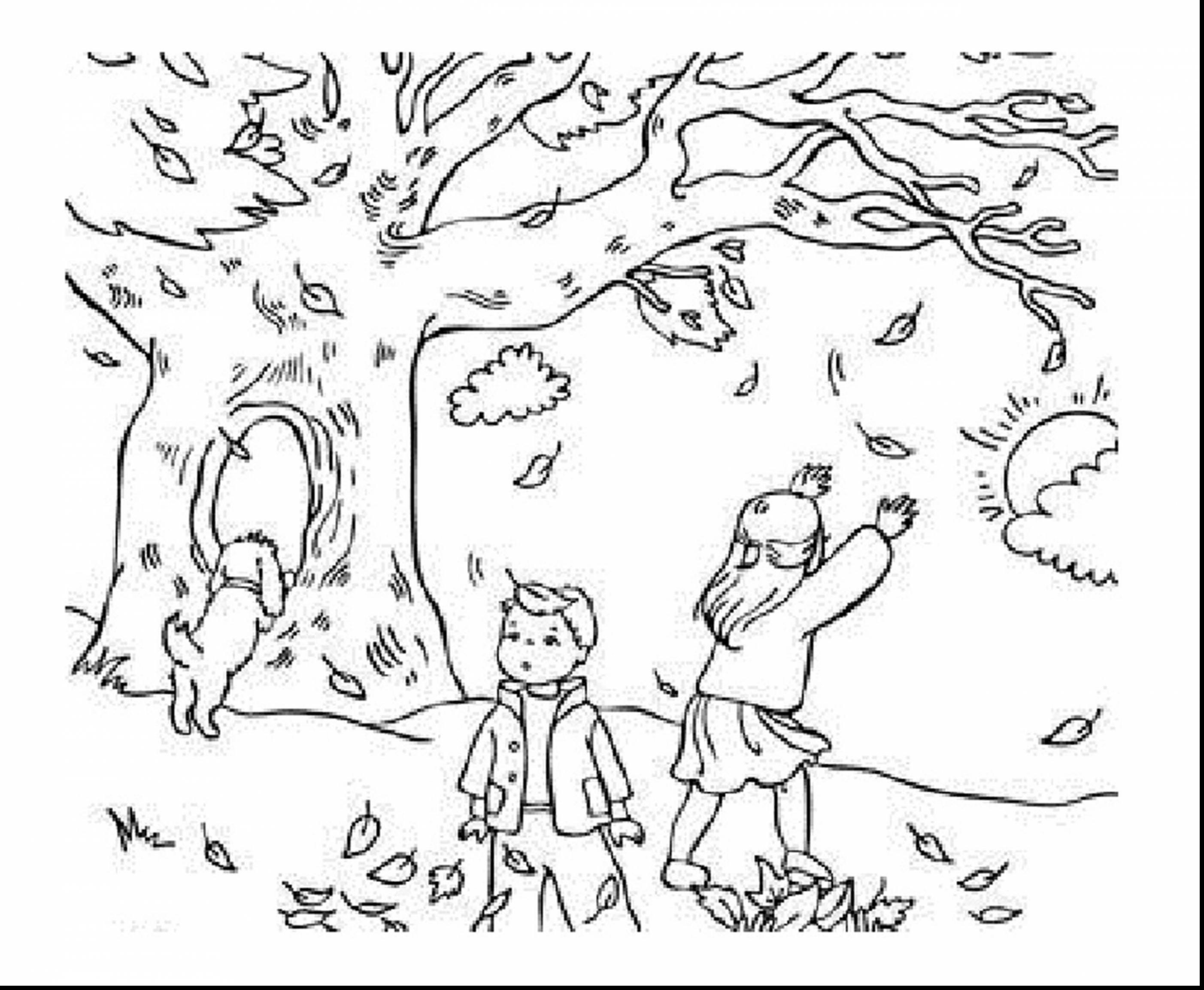 Autumn Coloring Pages Printable to Print 18g - Free Download
