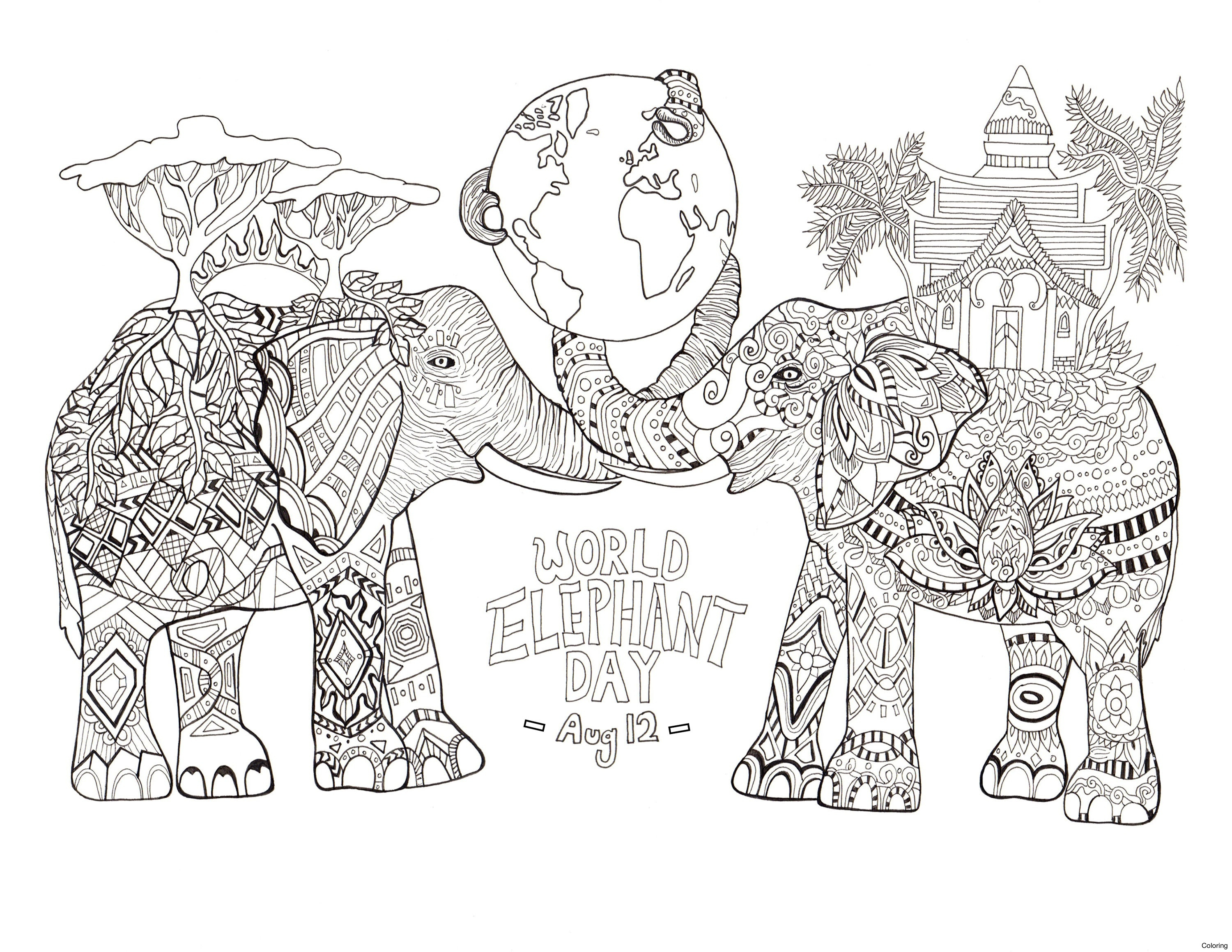 fresh printable 18 elephant mandala coloring pages 5427 best animal download of animal mandala coloring pages