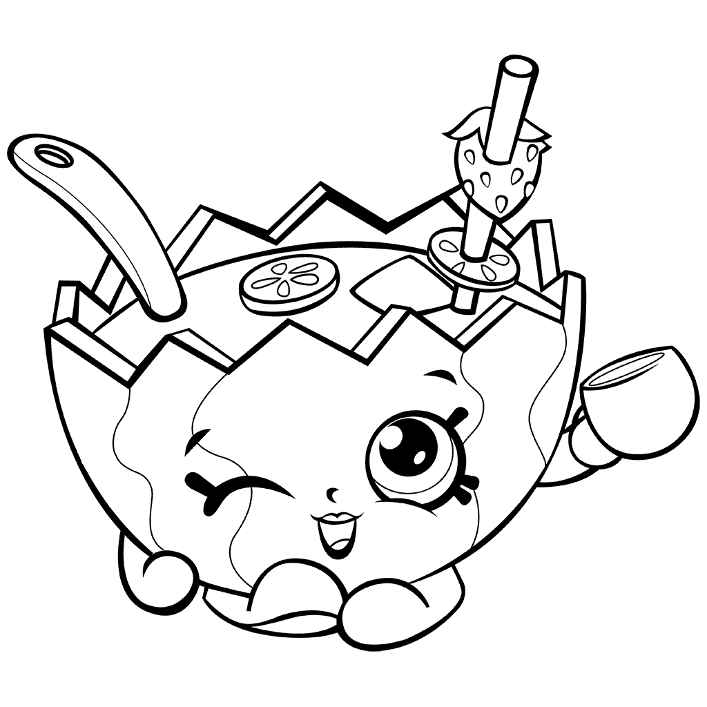 Fresh Shopkins Coloring Pages Season 7 Collection Printable Of Popcorn Print Fruit