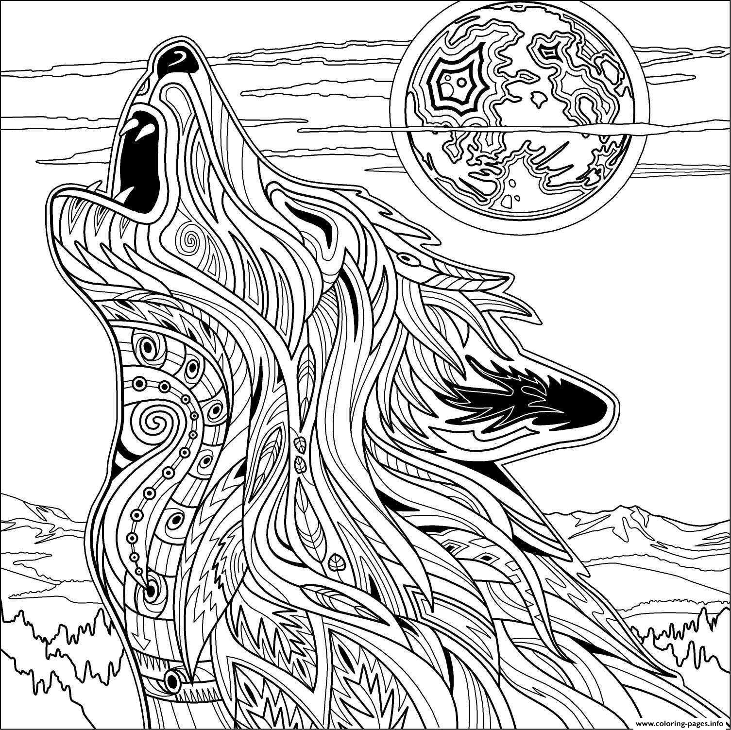 Fresh Wolf Mandala Coloring Pages Collection Collection Of Modern Intricate Mandala Coloring Pages Coloring for Good Mandala to Print