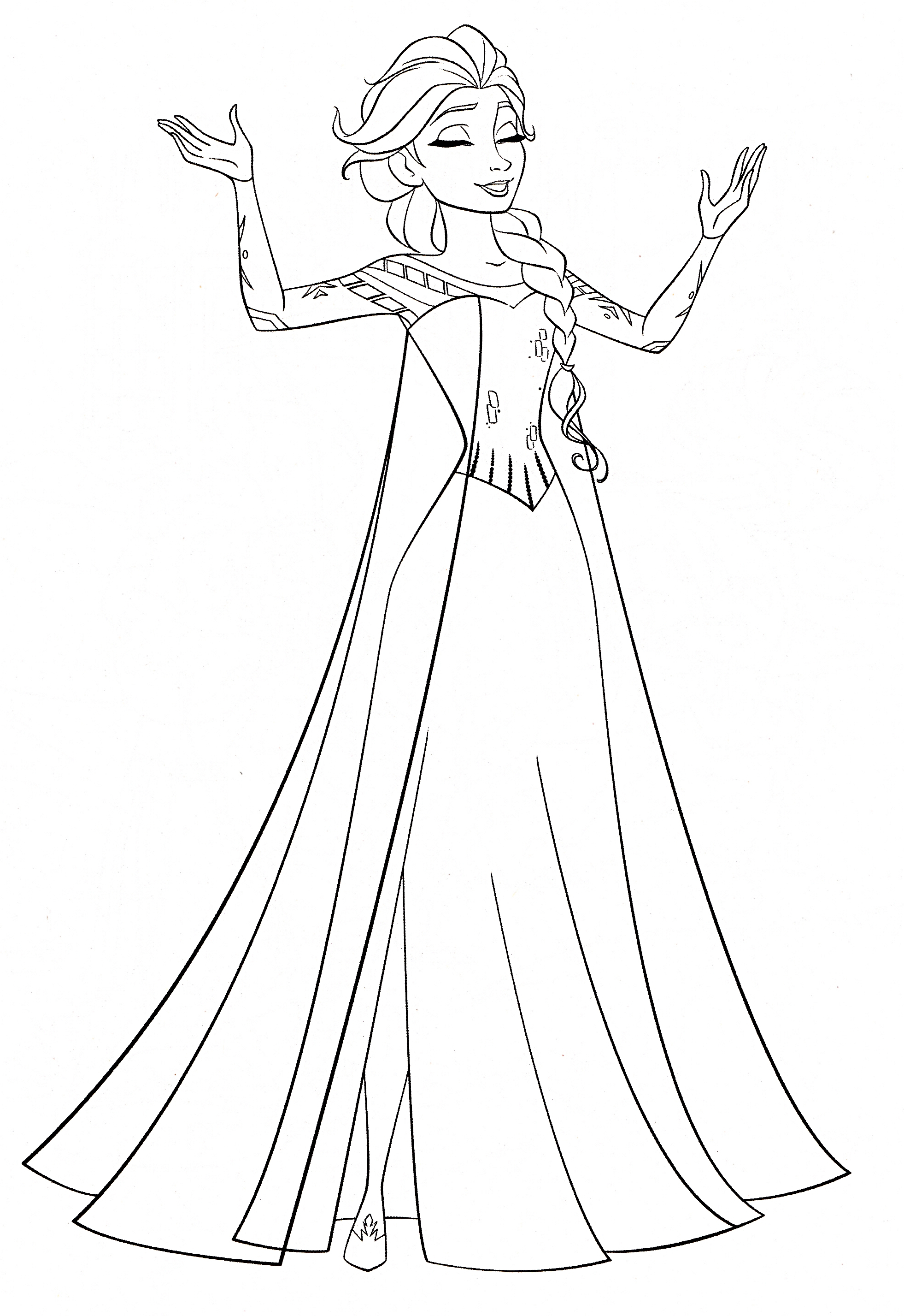 Frozen Coloring Pages Elsa Best Free 807 Download Of Disney Princess