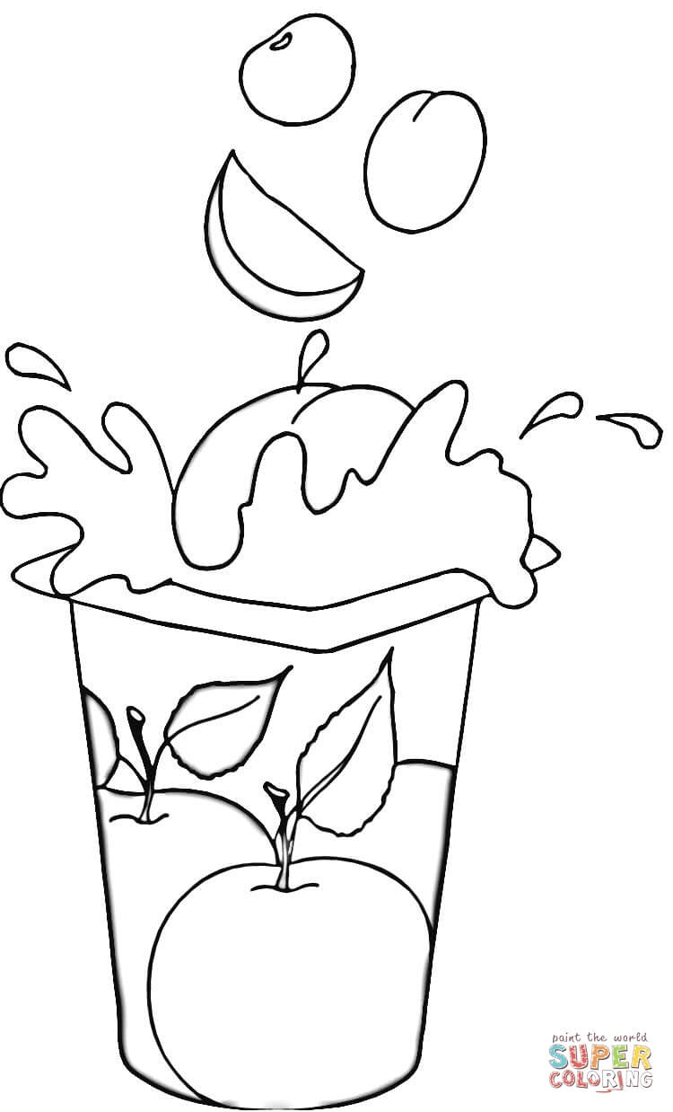 Yogurt Coloring Pages - Fruit Yogurt Coloring Page Gallery