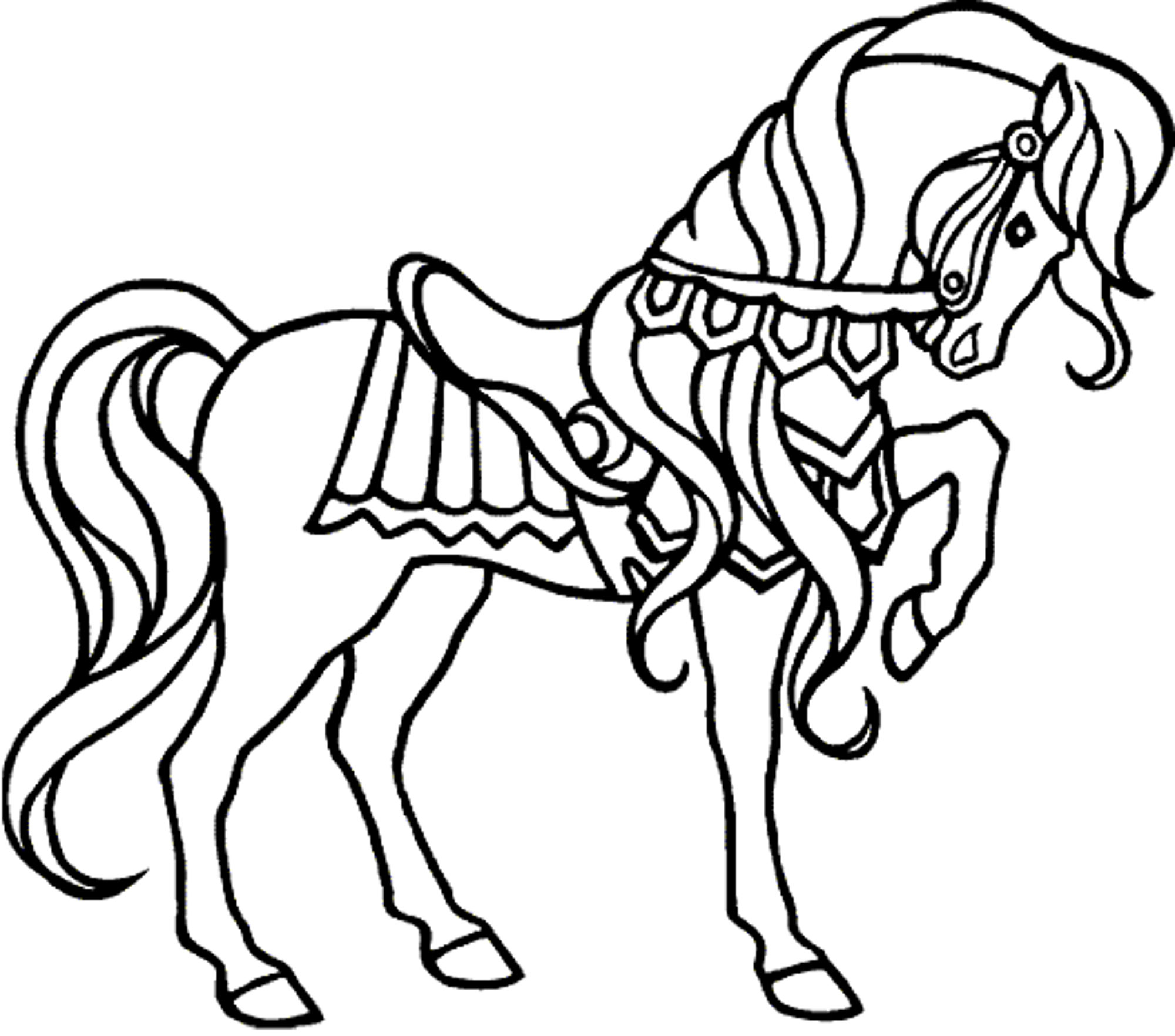 Fun Horse Coloring Pages for Your Kids Printable Collection Of Horse Detailed Coloring Pages Gallery