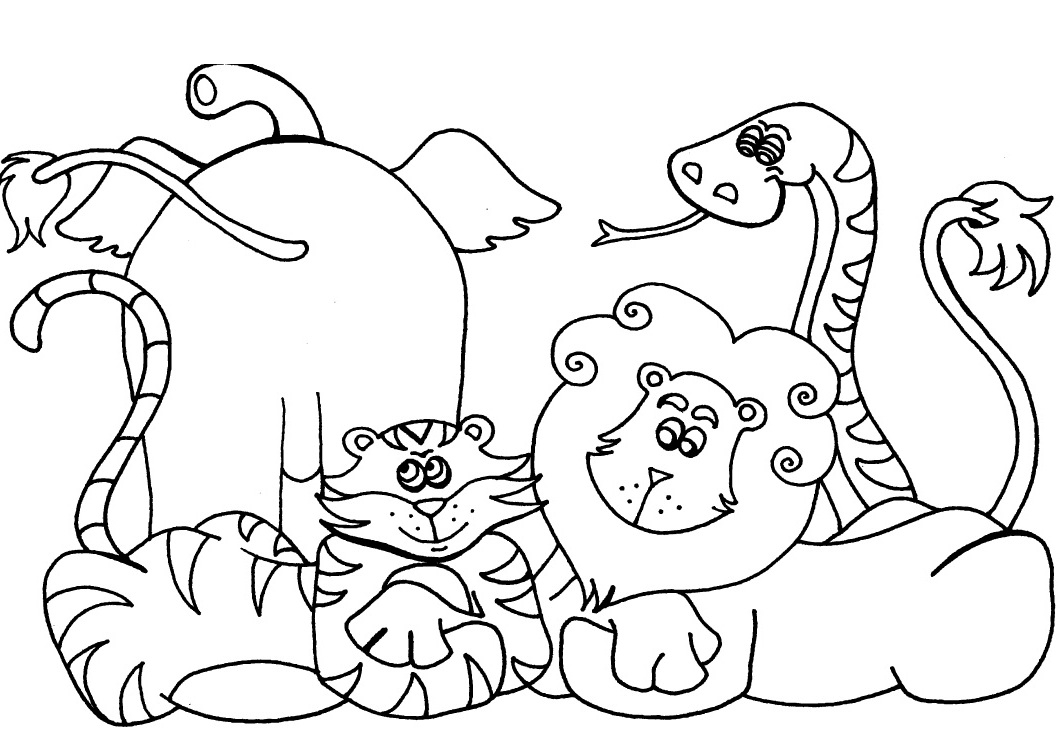 Animals Coloring Pages to Print Printable 15t - Free Download