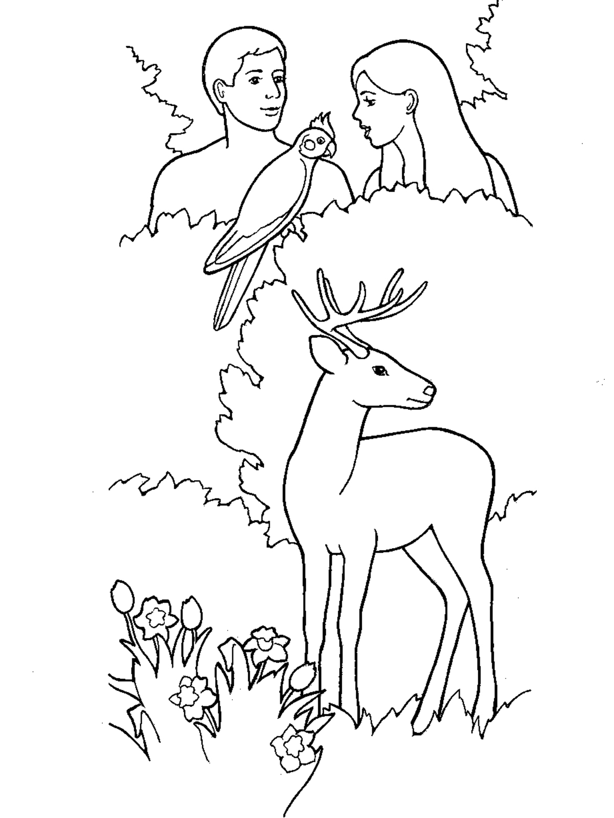 Garden Eden Clipart Creation Story Pencil and In Color Garden to Print Of And Eve Coloring Pages Coloring Pages Download